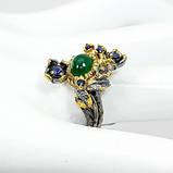 Оникс, серебро 925, кольцо ручная работа, 444КО, фото 2