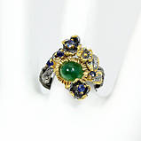 Оникс, серебро 925, кольцо ручная работа, 444КО, фото 3