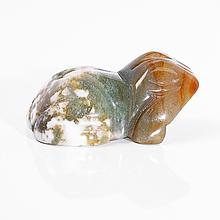 Статуэтка лягушка из разноцветной яшмы, 576ФГЯ
