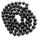Жемчуг черный, Ø10-11, 115 см., бусы, 253БСЖ, фото 2