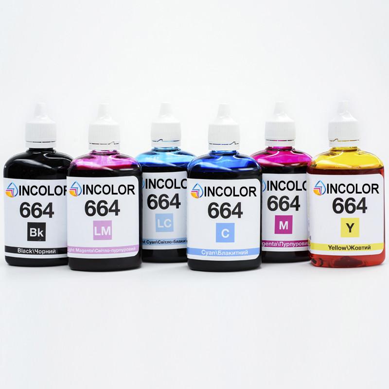 "Чернила для Epson Stylus Photo 900  - комплект чернил 664 ""INCOLOR"" (6 x 100 мл) BK/C/M/Y/LC/LM"