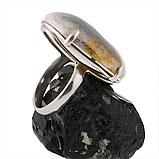 Яшма серая, серебро 925, кольцо, 300КЯ, фото 3