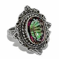 Топаз Мистик, серебро 925, кольцо, 1016КТ