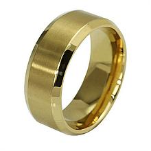 Кольцо из нержавеющей стали, золотистое анодирование, 1161КЖ