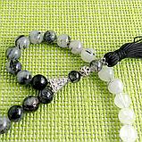 Волосатик турмалиновый кварц, серебро, четки, 179ЧТВ, фото 3