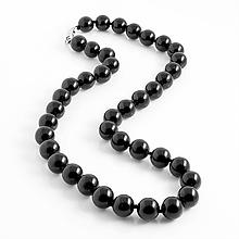 Турмалин черный, Ø10 мм., бусы, 455БСТ