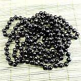 Агат черный, граненый Ø8, бусы 1,5 м., 285БСА, фото 2