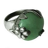Нефрит, мельхиор кольцо, 017КН, фото 2