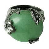 Нефрит, мельхиор кольцо, 017КН, фото 3