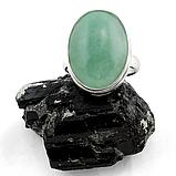 Нефрит, 20*15 мм., серебро 925, кольцо, 154КН, фото 2