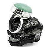 Нефрит, 20*15 мм., серебро 925, кольцо, 154КН, фото 3