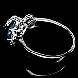 Опал двухцветный, серебро 925, кольцо, 977КО, фото 3