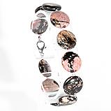 Родонит орлец, комплект браслет и бусы, 080КМР, фото 3