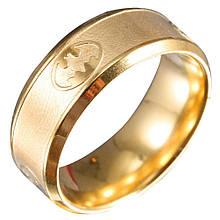 """Кольцо из нержавеющей стали, """"Бэтмен"""", золотистое анодирование, 1147КЖ_21"""