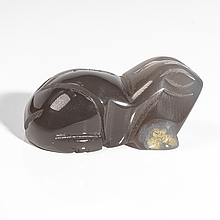 Статуэтка лягушка из агата халцедон, 494ФГХ