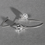 Горный хрусталь, Ø10 мм., серебро, серьги, 358СРГ, фото 2