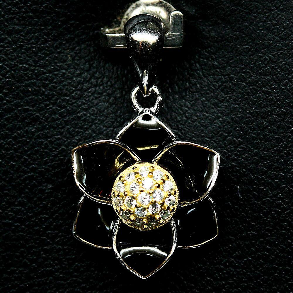 Серебряный кулон с цирконом, 1369КЛЦ