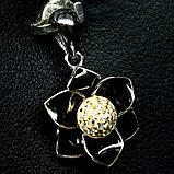 Серебряный кулон с цирконом, 1369КЛЦ, фото 2