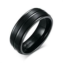 Кольцо из нержавеющей стали, черное анодирование, 1176КЖ