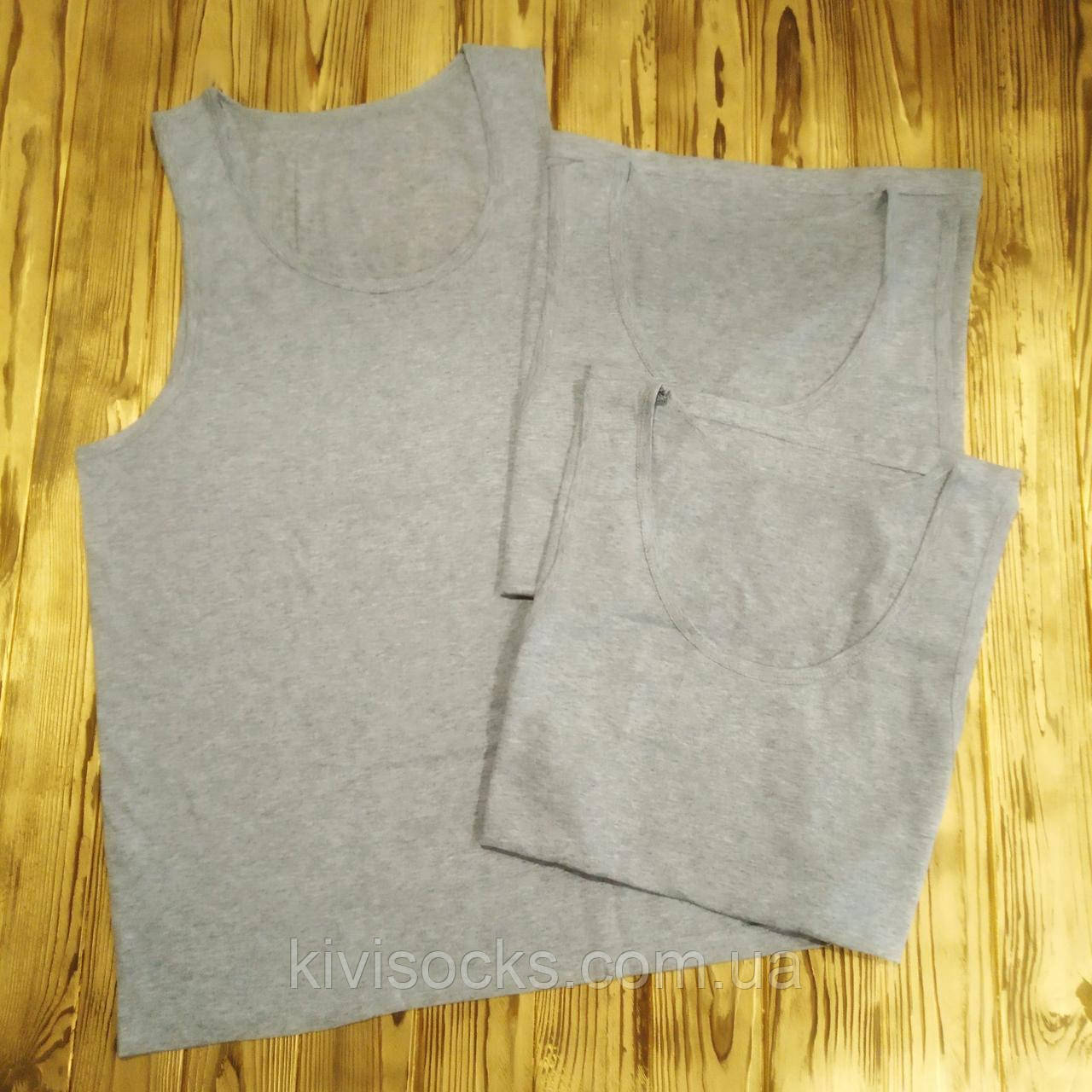 Майка мужская хлопок Step-trade, Черниговский трикотаж размер 58, Серый