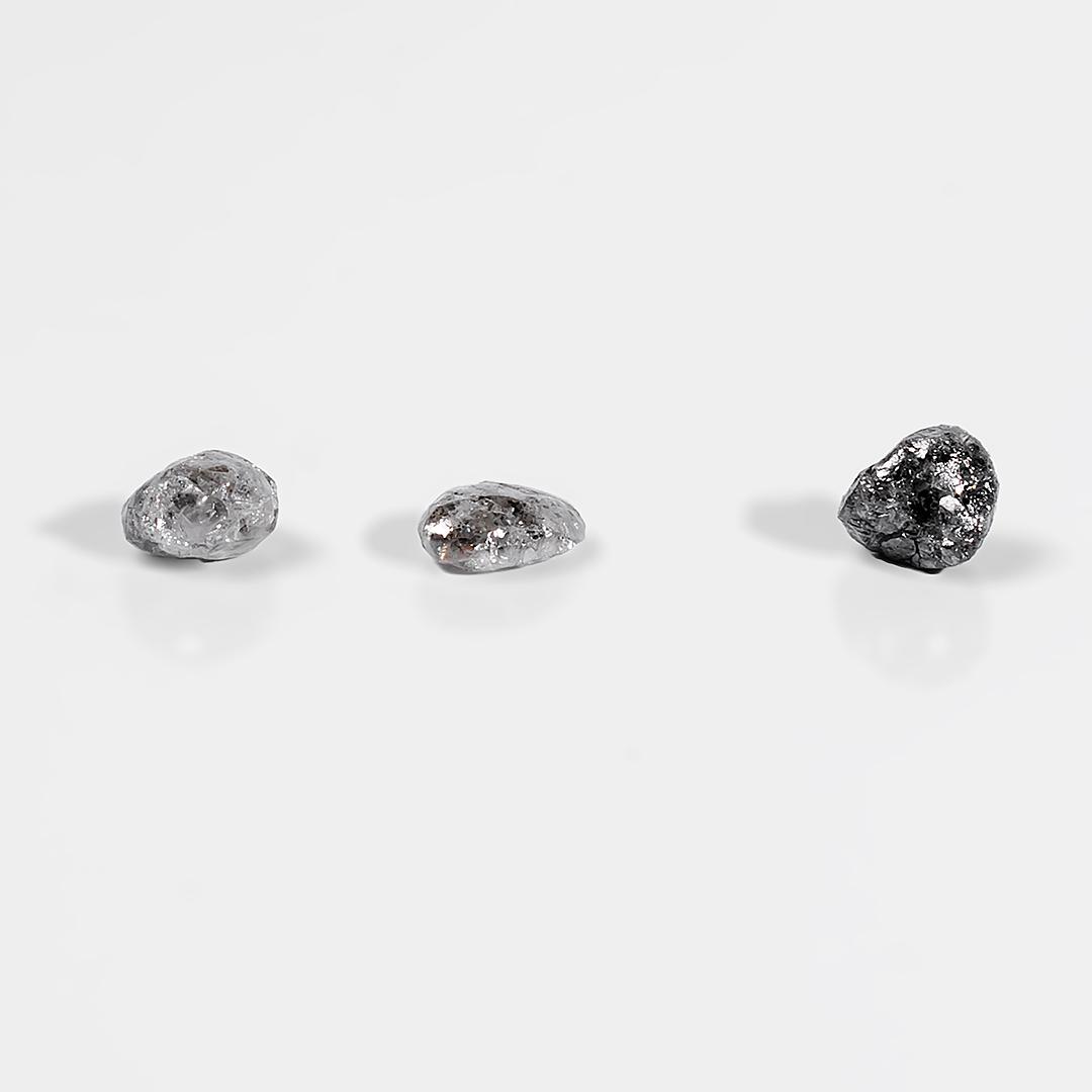 Алмаз самородок ювелирный камень, комплект 3 шт., 569ФГА