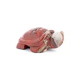 Яшма красная, статуэтка черепашка, 243ФГЯ, фото 2