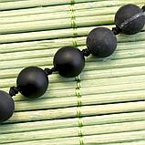 Бяньши черный нефрит, бусы, 262БСБ, фото 3