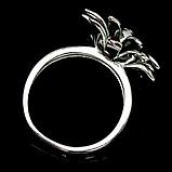Срібне кільце, емаль, 756КЭ, фото 3