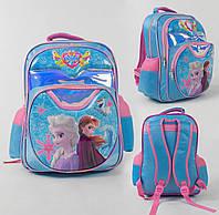 Рюкзак школьный Фрозен 3D принт, 1 отделение, 2 кармана, мягкая спинка
