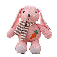 Мягкая игрушка Вязаный зайчик, 25см Berni Kids