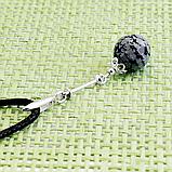 Обсидиан снежный, серебро 925, кулон, 717КЛО, фото 3