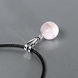 Опал розовый самородок полированный, серебро, кулон, 972КЛО, фото 2