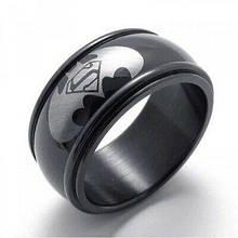 """Кольцо из нержавеющей стали, """"Бэтмен"""", черное анодирование, 1207КЖ"""