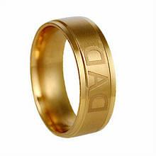 """Кольцо из нержавеющей стали """"DAD"""", золотистое анодирование, 1275КЖ"""