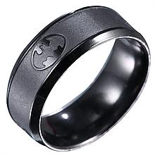 """Кольцо из нержавеющей стали, """"Бэтмен"""", черное анодирование, 1177КЖ"""