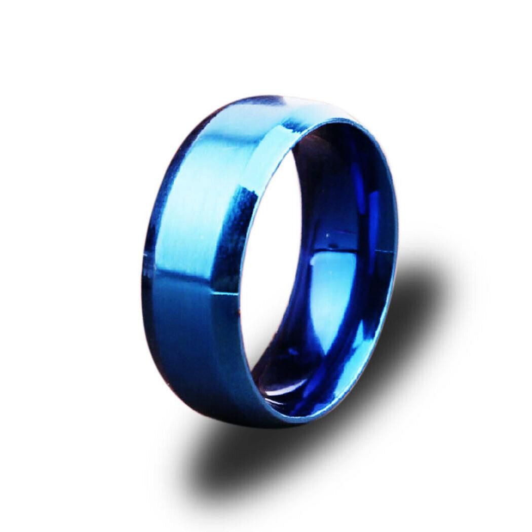 Кольцо из нержавеющей стали, синие анодирование, 1182КЖ