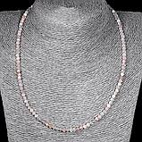 Комплект браслет и бусы из солнечного камня, Ø4 мм., 096КМС, фото 5