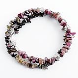 Турмалин разноцветный, серебро, браслет, 329БРТ, фото 3