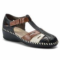 Туфли женские Rieker синие N1667-17