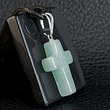 Нефрит, крестик, 589КЛН, фото 2
