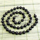 Бяньши черный нефрит, бусы, 265БСБ, фото 2