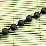 Бяньши черный нефрит, бусы, 265БСБ, фото 3