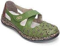 Туфли женские Rieker зелёный 463H4-52