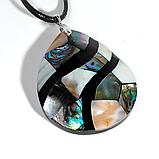 Кулон с перламутром, 58*45 мм., серебро, 1023КЛП, фото 2