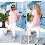 Костюм женский летний спортивный (футболка+капри), разные цвета р.48/50;52/54;56/58 код 219П, фото 8