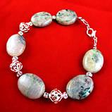 Хризоколла Аризонская, серебро, браслет, фото 2