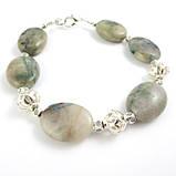 Хризоколла Аризонская, серебро, браслет, фото 3