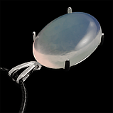 Місячний камінь молочний, срібло 925, кільце, кулон комплект, фото 5