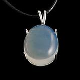 Місячний камінь молочний, срібло 925, кільце, кулон комплект, фото 6