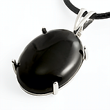 Агат черный, серебро 925, кольцо и кулон комплект, фото 4